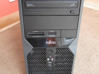 Fast Fujitsu 2.4GHZ Quad core PC base unit with Windows 10 64bit 4GB ram