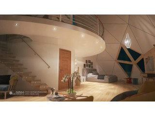 Itelligent Passive Geodesic Dome House With Seaview Spain