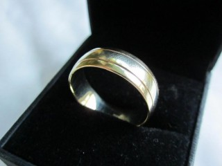 Brand New Solid 9ct. Yellow & White Gold Ring