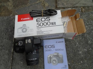 Yesteryear New Canon EOS 5000 camera