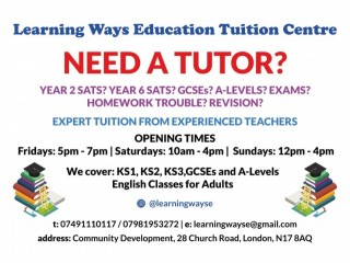 English Tuition Available in London