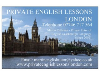 PRIVATE ENGLISH LESSONS IN LONDON! - SUMMER DISCOUNTS AVAILABLE!