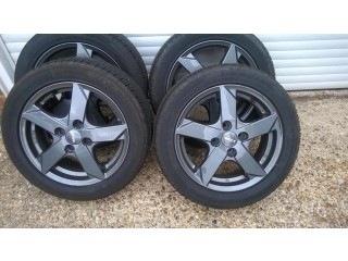 Alloy Wheels & Tyres used for 3xMonths then changed car & now stored indoors. Unmarked