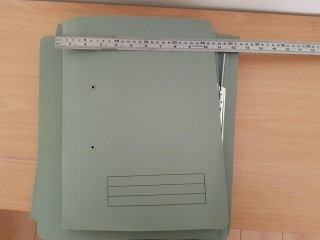 Spring Coil files. Foolscap. Green colour. 10 files