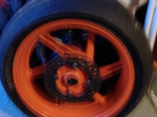 Aset of honda fireblade rrx wheels/disc with race tyres