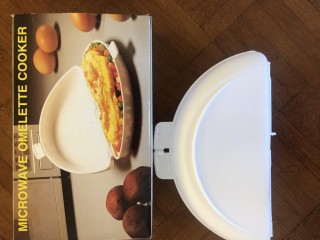 Microwave omelette cooker. Calls only