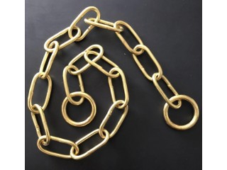 SOLID BRASS LONG LINK & TWISTED LINK CHOKE CHAIN