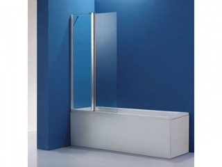 New Over Bath Shower Screen - Boxed, Unused, 1 Fixed Panel & 1 Folding.