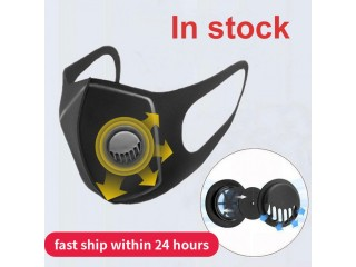 5 x Dust Mask Filter Anti Air Pollution Mouth Face Mask with Anti Dust Cotton Adjustable Straps and a Washable Mask