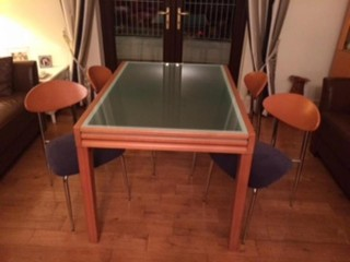 DINING TABLE & CHAIRS -PRICE FURTHER REDUCED-must go now