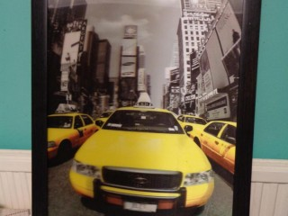 3D Yellow New York taxi pic
