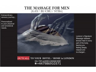 MALE MASSAGE LONDON ★ FOR MEN - MALE MASSEUR VISITS YOUR ★ HOME/HOTEL