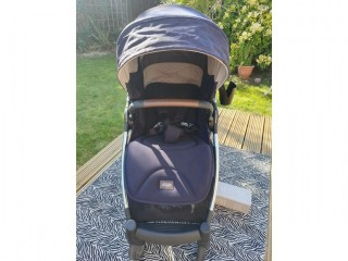 MAMAS & PAPAS ARMADILLO XT ALL TERRAIN PUSHCHAIR PLUS CYBEX ADAPTORS - IMMACULATE ALMOST NEW