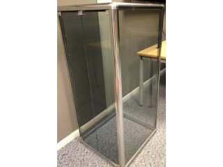 Hi-Fi Rack made by Fi-Rax. All enclosed in glass with chrome - 6 bays fully adjustabl