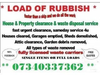 RUBBISH CLEARANCE REMOVAL SERVICE HOUSE GARAGE GARDEN BERKSHIRE HAMPSHIRE OXFORDSHIRE
