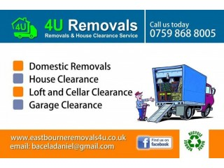 Removals 4U, clearance service, man with Luton van