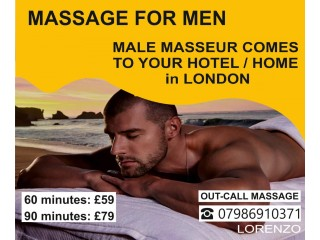 BODY MASSAGE for MEN by ★MALE MASSEUR OUT CALL to Your HOTEL / HOME in London