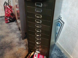 Retro metal filing draw cabinet