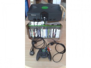 Original Xbox console, controller plus 31 games bundle