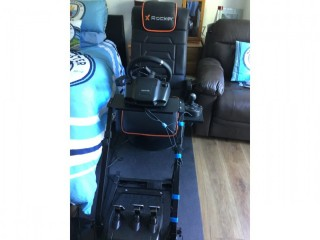 Unused Xbox/PC Complete Driving Set Up For F1/Rally Games Etc. Logitech G29/X Rocker Pro