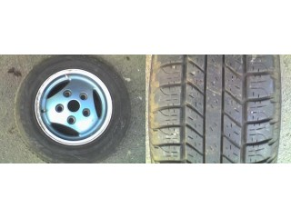 Land Rover Defender / Discovery / Range Rover Classic Green painted 3 Spoke Alloy Wheel & 225 x 16 Tyre