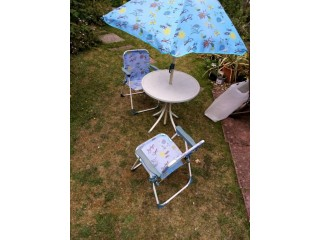 Children's Garden Chairs, table and umbrella