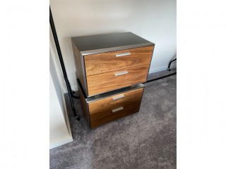 Dwell Hixon Modern Contemporary Bedside Table x2