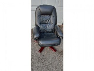 Leather Swivel Reclining Chair