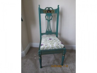 Hard back wooden chair