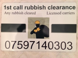 1st rubbish / house clearance