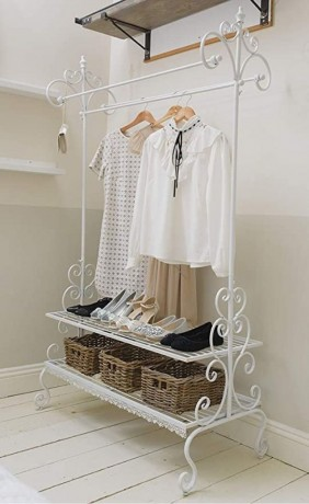 clothes-stand-with-shelves-ornate-white-metal-big-0