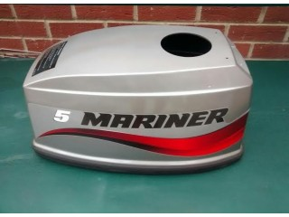 ( NEW ) MARINER / MERCURY 5HP OR 4HP 2 STROKE HOOD LID COVER BOAT ENGINE