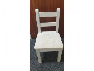 Small Hardwood Childs Wooden Chair
