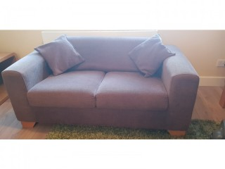 Two sofas for sale, both two seater with cushions. Very comfortable and compact.