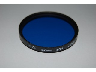 Hoya Filters, 80A Blue for Indoor Photo Colour Balance in 3200K Lamplight.