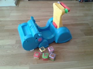 Fisher Price Ride on & push along Hippo
