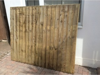 Wooden fence Closeboard