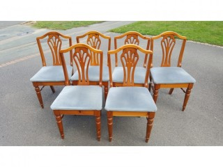 Ducal – A set of 6 Pine Hepplewhite style chairs seats