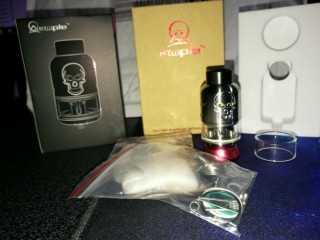 Ample Skelly RDTA 25mm 4.5ml in Stainless steel Vape Vaping Vaporiser. Wandsworth, London