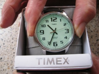 TIMEX 'INDIGLO' LARGE FACE WRIST WATCH