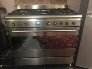 Smeg Single Oven Dual Fuel Range Cooker - Stainless Steel
