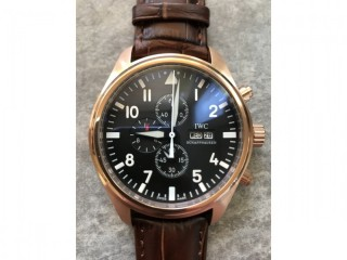 Men's IWC Classic Pilots Chronograph Automatic Rose Gold watch