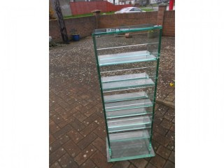 6 glass shelf unit, bought from Next, very heavy Glass unit