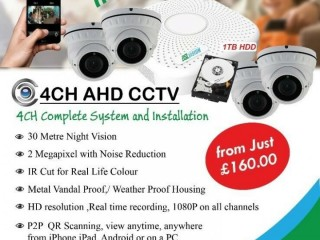 CCTV Camera / Alarm System Installations, Internet & Network installation from £100 per system. Harrow, London