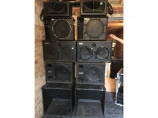 P a speakers and amps concert system