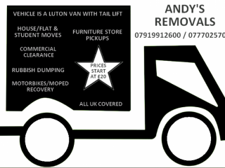 FRIENDLY MAN & VAN SHORT NOTICE REMOVALS BIG LUTON VAN WITH TAIL LIFT. Kentish Town, London