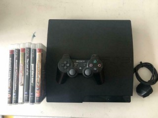 PS3 Slim Console with 6 Games with 1 controller, Edmonton, London