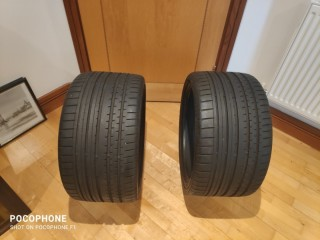 295/30/ZR/18 2 x Part used Continental Tyres with good tread