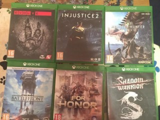 7 Xbox one games, in good condition selling them as not being used