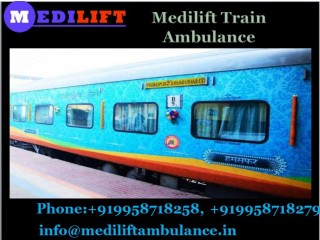 Get Secure Transferring Service with Medilift Train Ambulance in Raipur